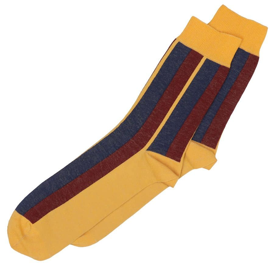 chaussettes rayures homme