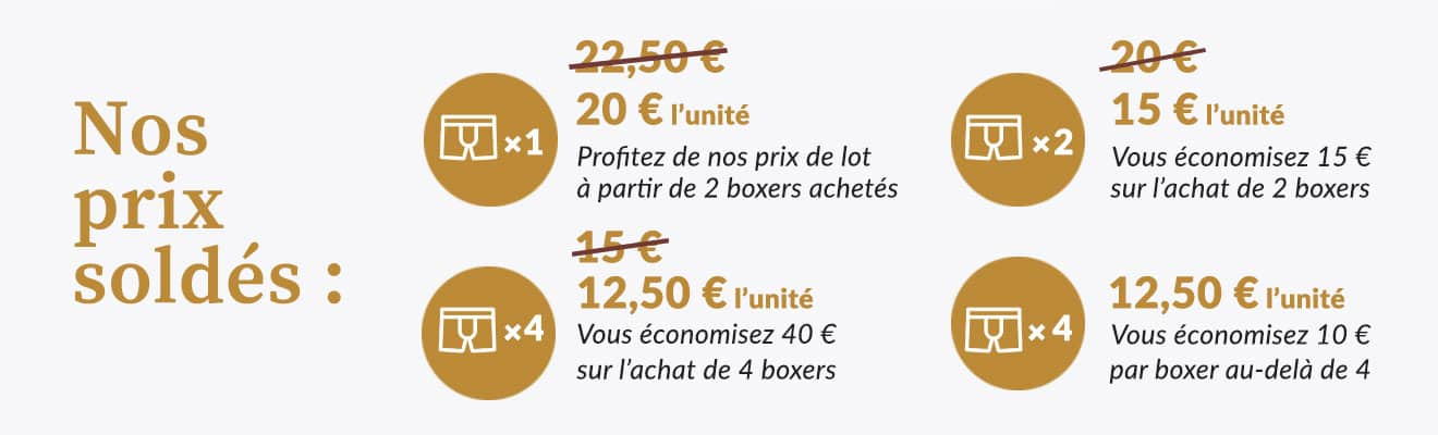 boxers soldes