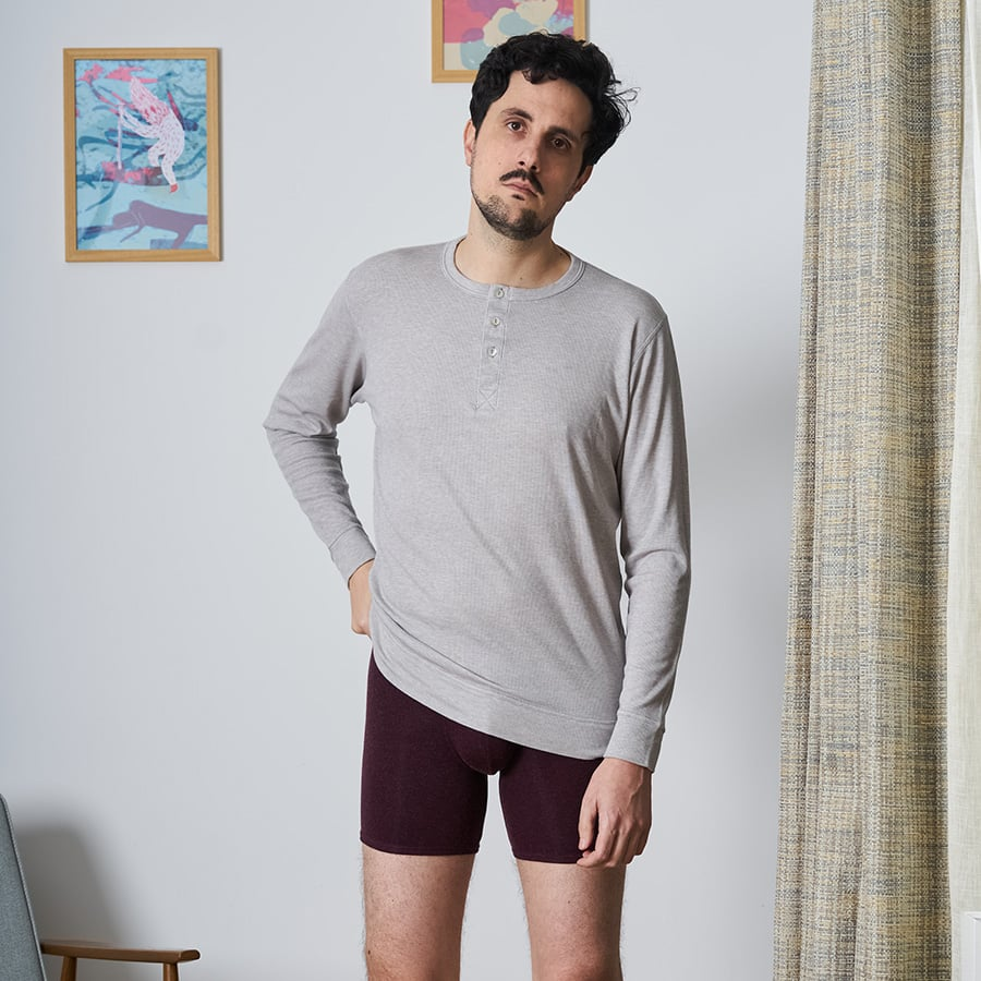 Henley manches longues hommes