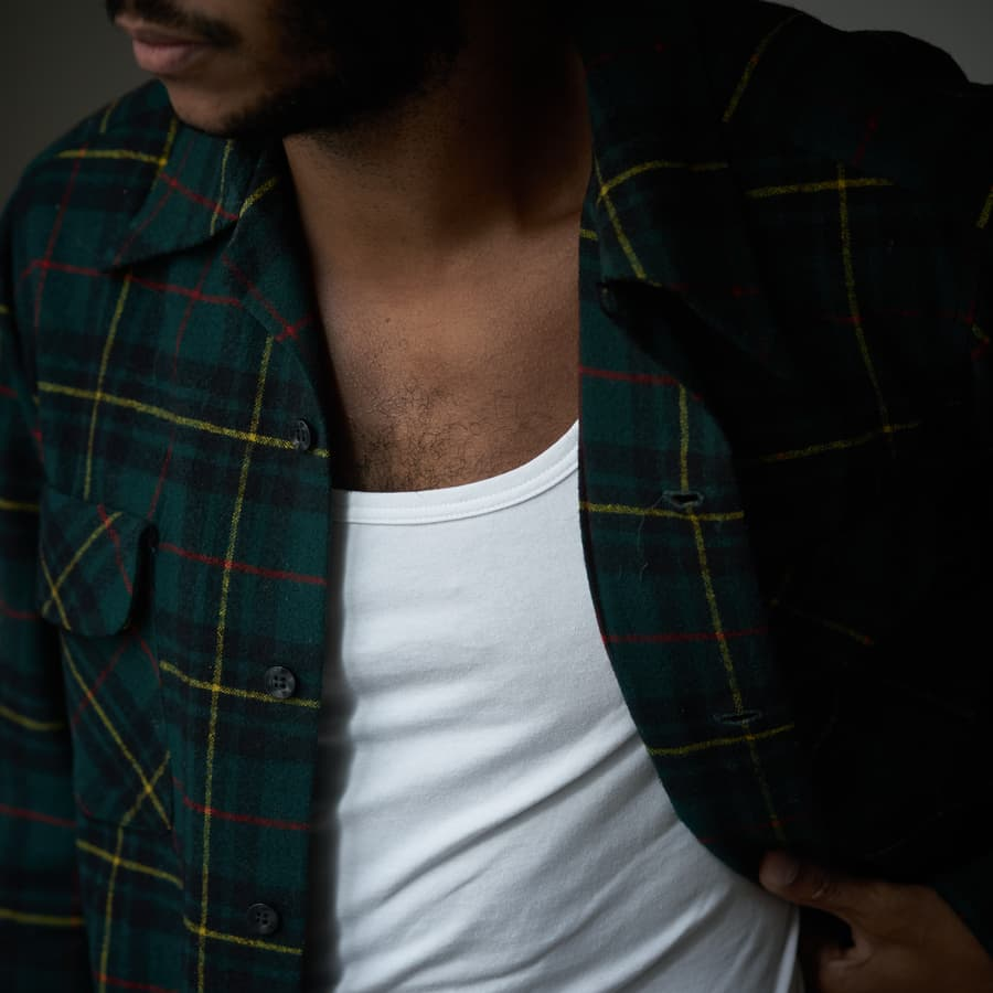 Marcel invisible chemise hommes